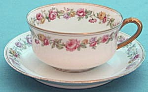 Vintage Haviland & Co. Limoges Rose Cup & Saucer (Image1)