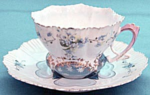 Antique Forget Me Not Cup And Saucer
