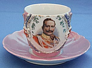 Victorian King George Large Cup and Saucer (Image1)