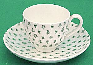 Vintage Coalport Emerald Thistle Clover Cup & Saucer (Image1)