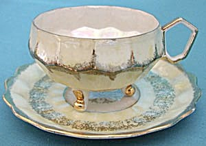 Royal Halsey Yellow Luster Cup and Saucer (Image1)
