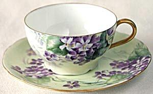 Vintage Iris Bavaria Violet Cup & Saucer (Image1)