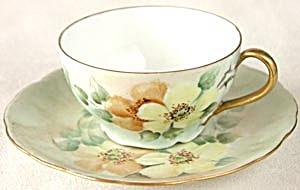 Vintage Iris Bavaria Yellow Rose Cup & Saucer (Image1)