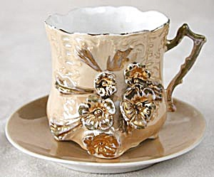 Victorian Luster Floral Cup & Saucer (Image1)