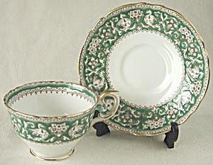 Vintage Crown Staffordshire Ellesmere Cup & Saucer (Image1)