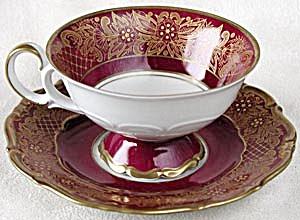 Vintage Weimar Dora Footed Cup & Saucer (Image1)