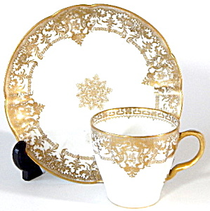 Vintage Haviland limoges Gold & White Cup/saucer