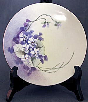 Vintage Hand Painted Violet Plate (Image1)