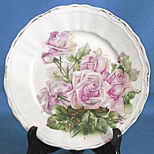 Vintage German Pink Rose Plate (Image1)