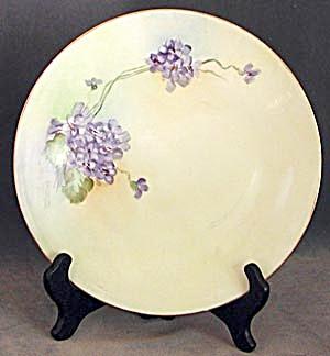 Vintage Limoges France Hand Painted Violet Plate (Image1)