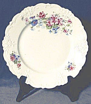 Vintage Rose and Bachelor Button Plate (Image1)