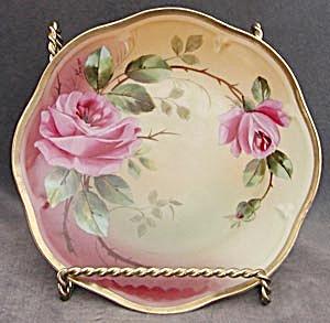 Vintage Bavaria Signed Rose Plate (Image1)