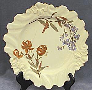 Vintage Tiger & Indigo Flower Plate (Image1)
