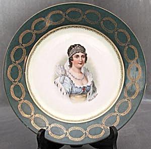 Vintage Austrian Portrait Plate: Marie-Louise (Image1)