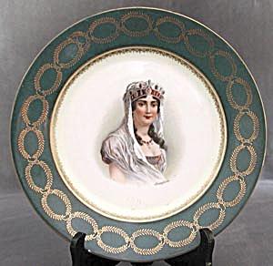 Vintage Austrian Portrait Plate: Josephine (Image1)