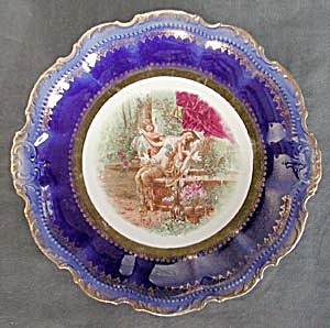Vintage Large Decorative Cupid Plate (Image1)