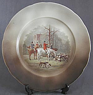 Vintage English Hunt Scene Plate (Image1)