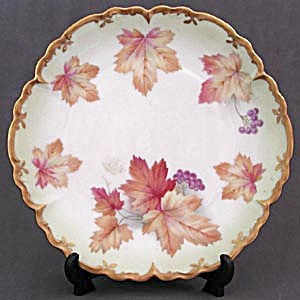 Vintage Bavaria Autumn Leaf Plate