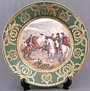 Vintage Hand Painted & Signed Napoleon Plate