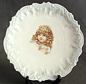 Antique Child Tilting Their Head in a Coy Fashion Plate (Image1)