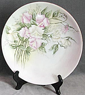 Vintage Hand Painted/signed Sweet Pea Plate