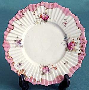 Vintage Small Hand Painted Flower Plate (Image1)