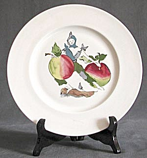 "Harvest 9"" Plate Apples and a Person (Image1)"