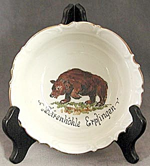 Hutschenreuther, Selb Bavaria Dish With Bear