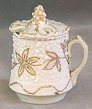 Antique Bumpy Glaze Mustard Pot (Image1)