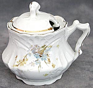 Vintage Forget-Me-Not Mustard Pot (Image1)