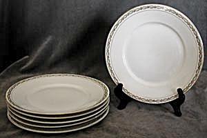 Vintage Rosenthal Porcelain Plates Set of 6 (Image1)