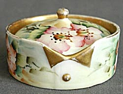 Vintage Hand Painted Rosenthal Collar Studs/ Button Box (Image1)