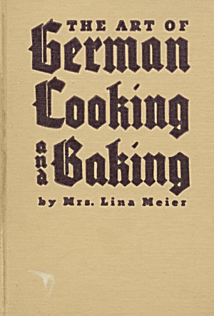Vintage The Art Of German Cooking And Baking (English)
