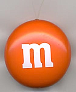 M & M Candy Christmas Ornament