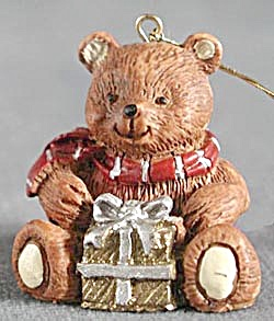 Pair of Teddy Bear Christmas Ornaments (Image1)