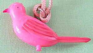 Vintage Celluloid Parakeet Charm (Image1)