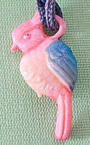 Vintage Celluloid Cockatoo Parrot Charm (Image1)
