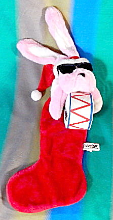 Energizer Bunny plush Christmas Stocking