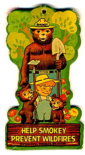 Vintage Smokey Bear Car Freshener