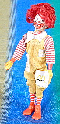 Vintage Jointed Ronald Mcdonald Doll
