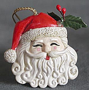 Santa Head Christmas Ornament (Image1)