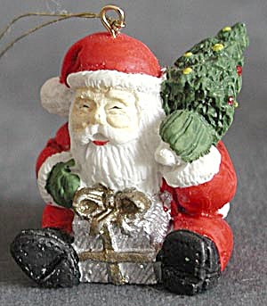 Pair of Santa Christmas Ornaments (Image1)