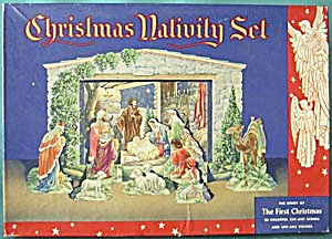 Vintage Christmas Nativity Set (Image1)