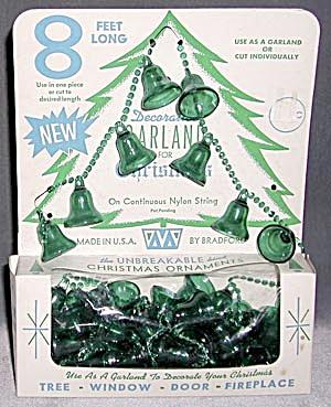 Vintage Green Plastic Bell Garland (Image1)