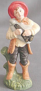 Vintage Shepherd With Bagpipe