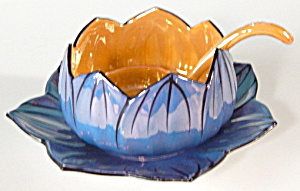 Lotus Blossom, Lusterware, Bowl Saucer & Ladle