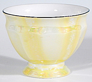 Vintage Czech Yellow Luster Bowl