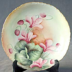 Antique Rosenthal Bowl Decorated With Cyclamen