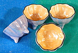Vintage Luster Nut Cups Set Of 6