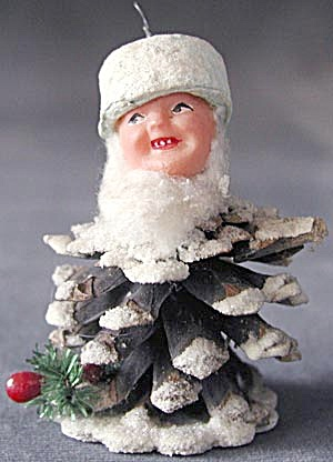 Vintage Pine Cone Elf - Dwarf Ornament (Image1)